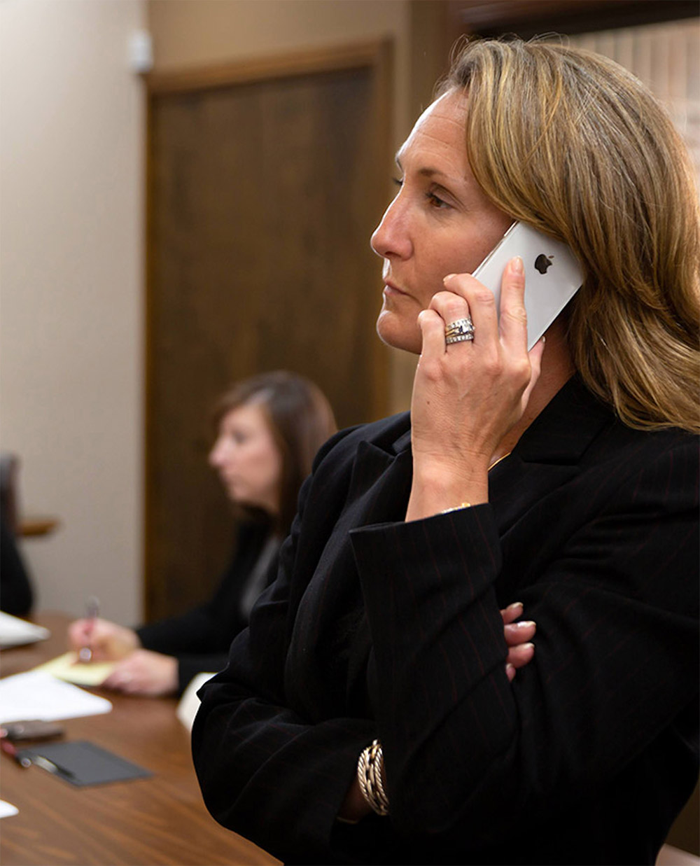 Liz on Phone